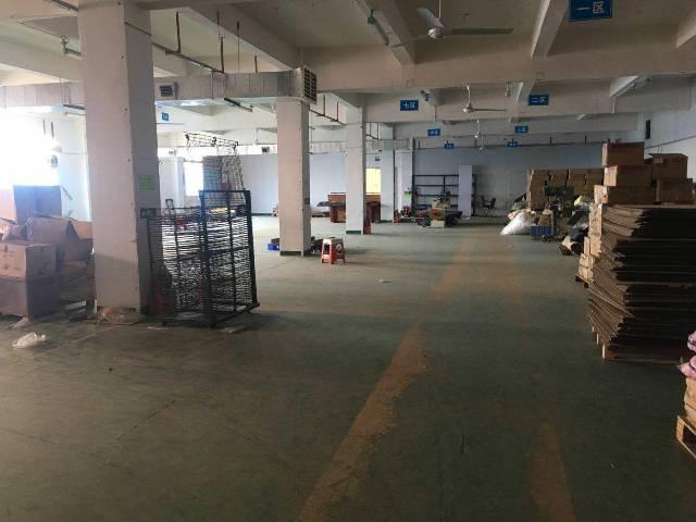 松岗高速出口六楼半层1000带装修厂房出租!