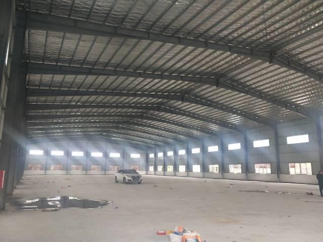 惠州市园洲镇新出独门独院9米滴水钢构厂招租,厂房面积3200