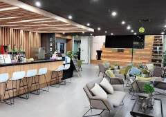 黄埔大沙地铁站口精装写字楼100平起分租、证件齐全有补贴