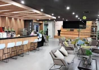 黄埔大沙地铁站口精装写字楼100平起分租、证件齐全有补贴图片1