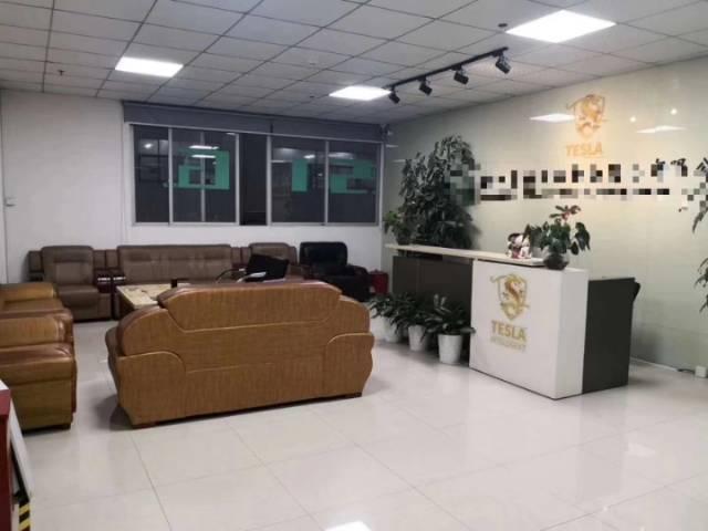 沙井镇西环电子城附近二楼1400平方带豪华装修厂房出租