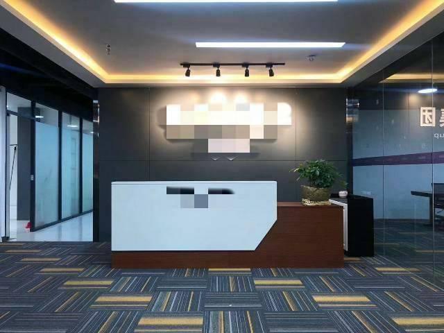 广州黄埔区黄村地铁口四百平精装修带家私办公室招租