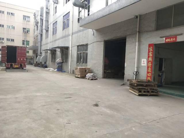 松岗高速出口原房东厂房一楼1200平米,租金36!厂房按实际