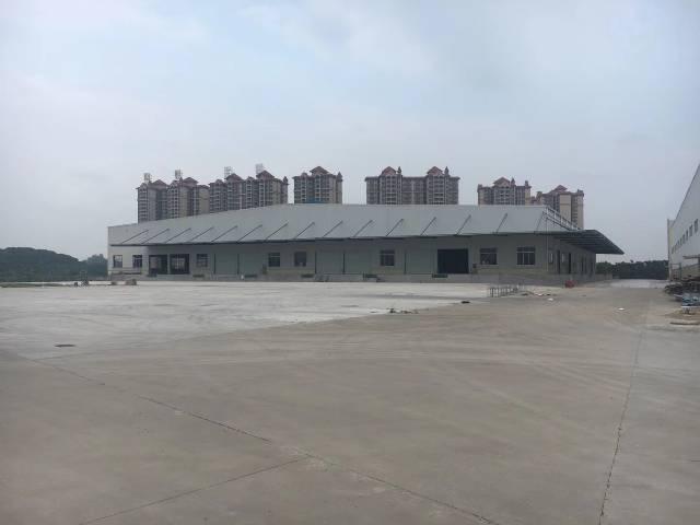 广州黄埔区空地超大带高台物流仓库出租4000平。价格33