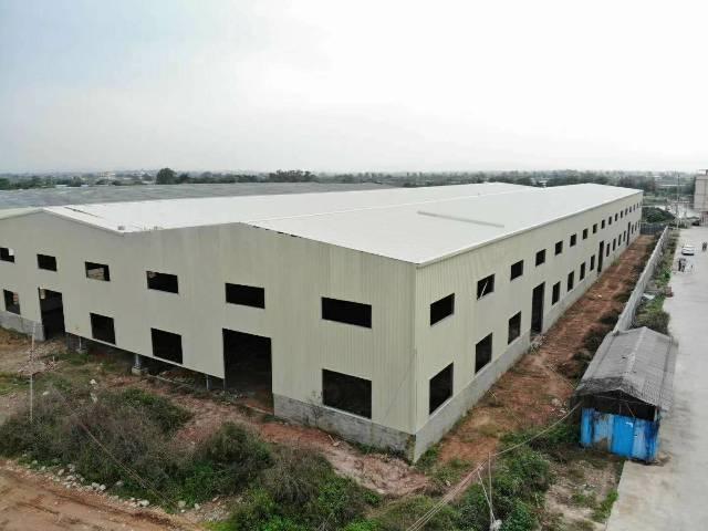 惠州石湾新建钢构厂房共17600平面积实量