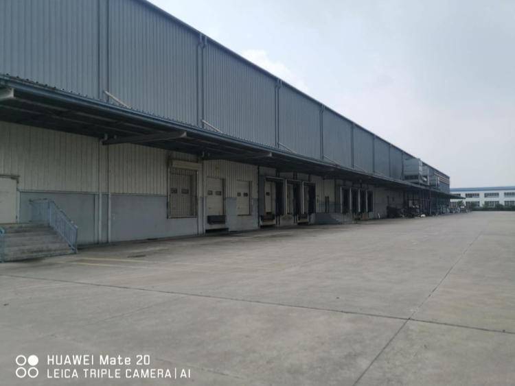 独门独院单一层钢结构冷冻保鲜高台物流仓库交通便利证件齐全