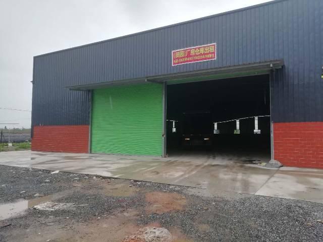 靠近大马路的钢结构厂房招租。面积5600