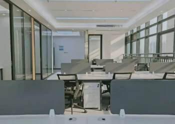 宝安桃源居全新装修办公室3+1格局256平高区三面采光图片5