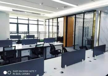 宝安桃源居全新装修办公室3+1格局256平高区三面采光图片4