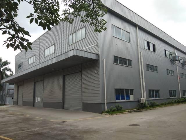惠州市沥林新出钢构厂房,滴水10米,带牛角