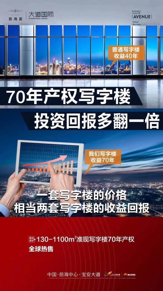 70年产权不限购不限贷准现写字楼深圳市前海红本甲级写字0