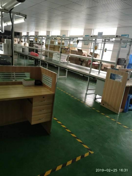 公明长圳新出楼上带豪华办公室装修地坪漆喷淋厂房1100平