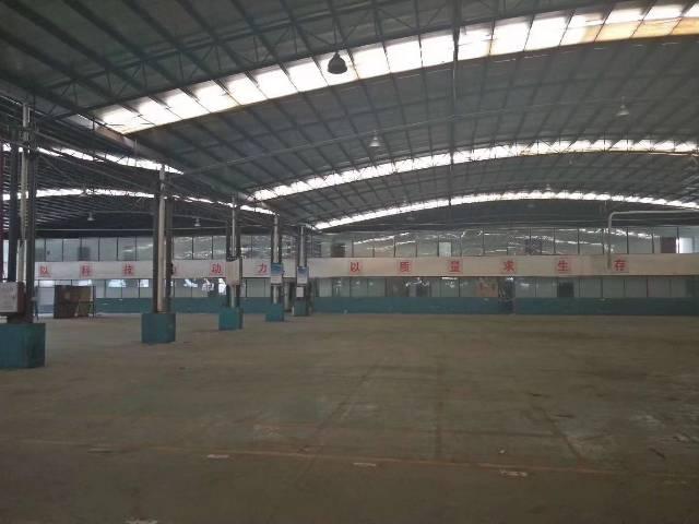 白云区江高镇单一层钢结构厂16000平厂房仓库出租,靠主干道