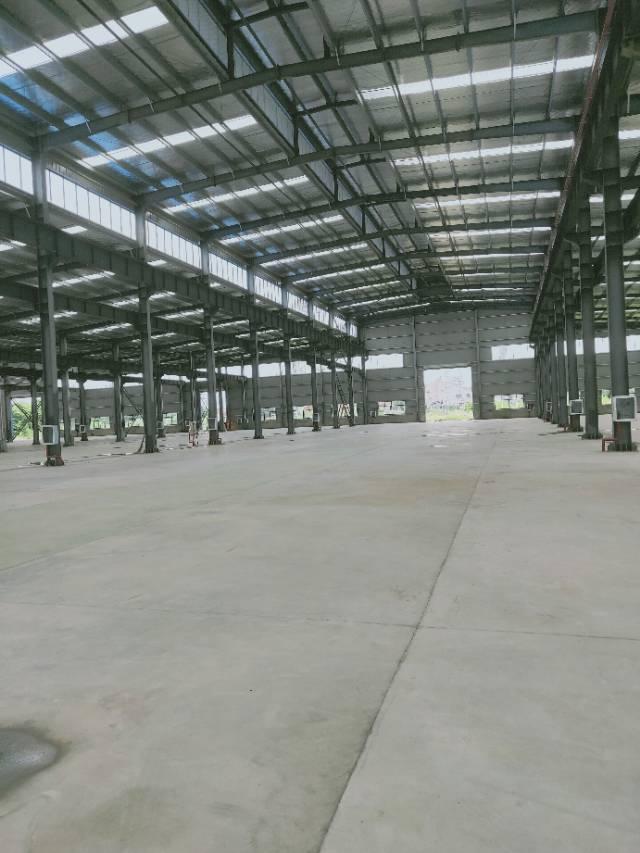 葛店开发区全新钢构厂房出租可分租带行车有蒸汽