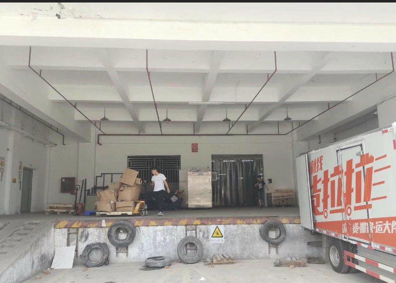 塘厦田心工业园仓库出租1000平有2吨货梯过基础消防价格便宜