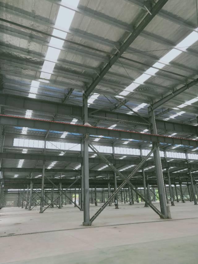 葛店开发区全新厂房可分租有行车空地很大大车进出方便-图2