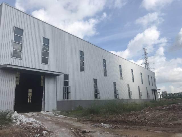 洪梅独院5000平方全新厂房出租,空地超大