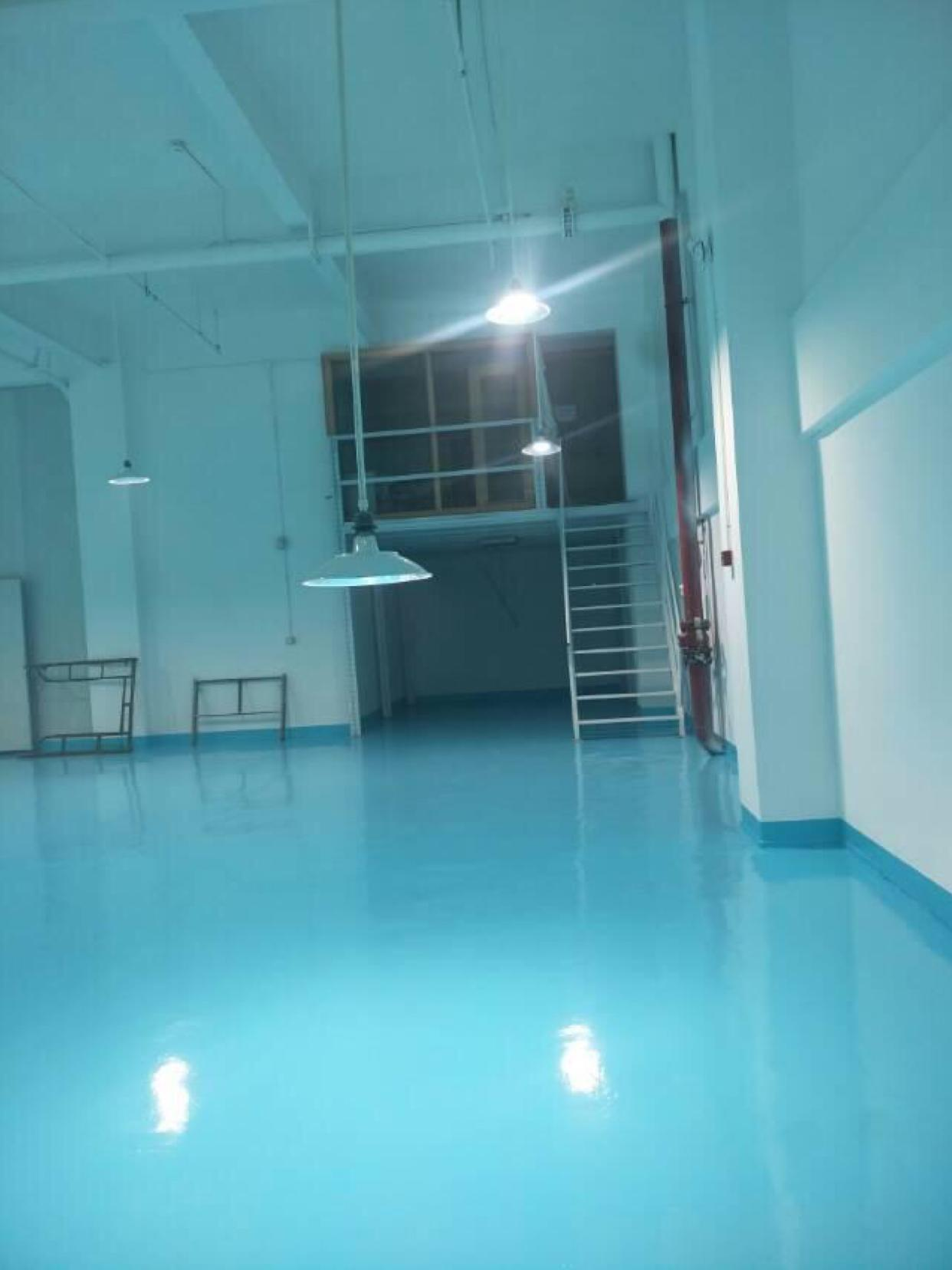 天河区珠吉一楼全新地坪漆带办公室500平出租