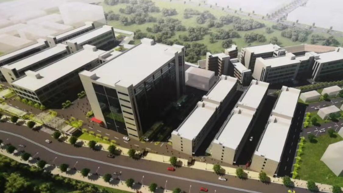 横岗大型工业园区j精装修办公室820平