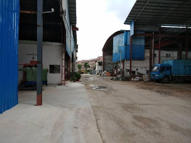 虎门镇环莞快速边上实用型钢构仓库出租,680平,高度10米