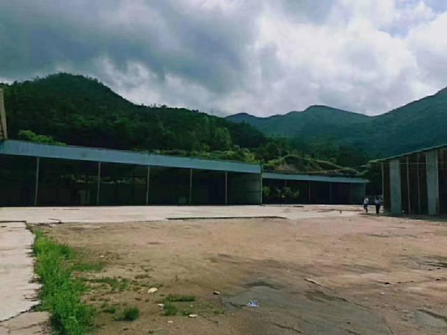 澳头靠山边独院钢构厂房,占地7000平,建筑3500平可分租