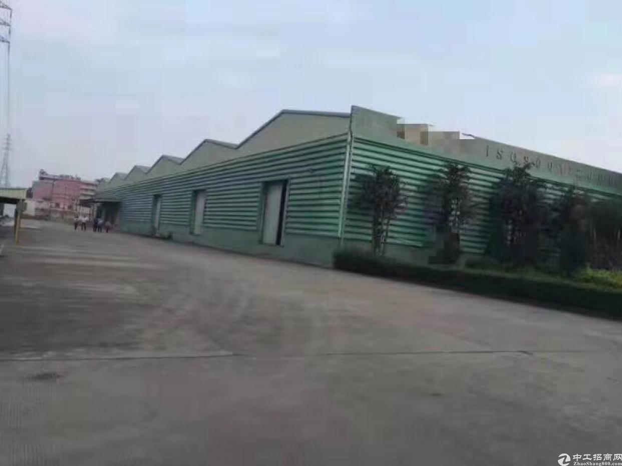 东莞大朗高速路口附近原房东单一层带丙类消费单层独院厂房出租