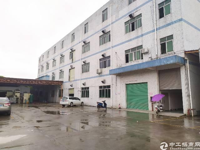惠州惠阳秋长独门独院标准厂房实际面积出租3600平可做污染行