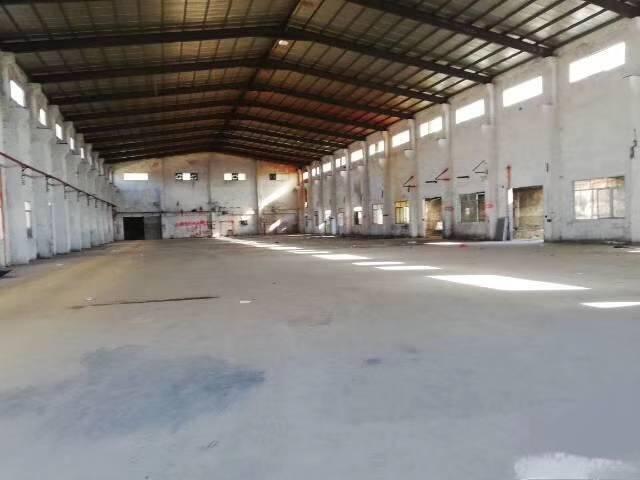 茶山镇新出砖墙到顶铁皮房1500平,带牛角,大型工业园内