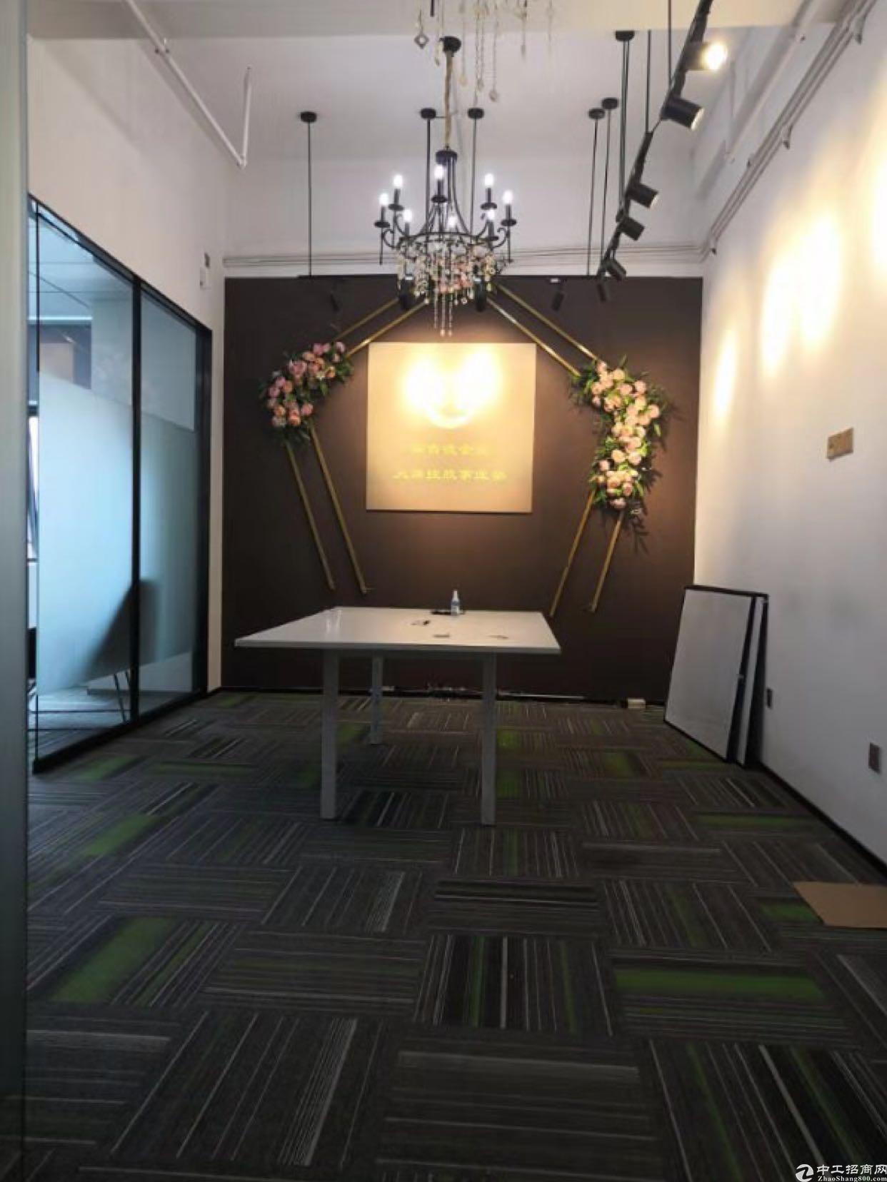 深圳北民治地铁站民治核心商圈精装办公室出租,面积88平带二个