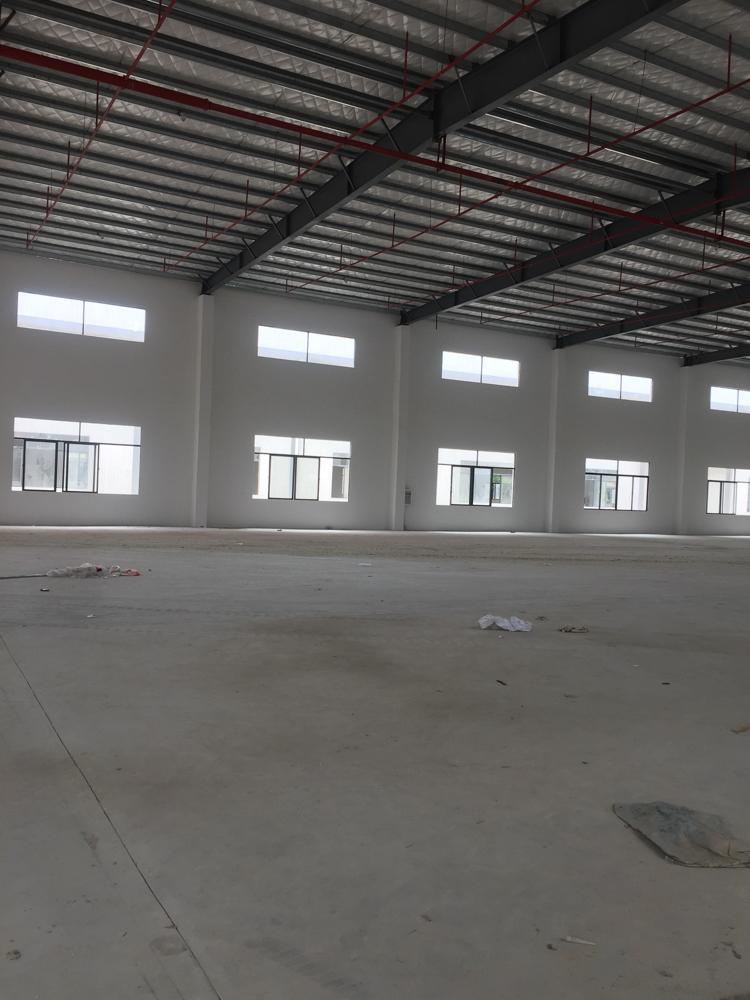 全新砖墙到顶钢构厂房招租