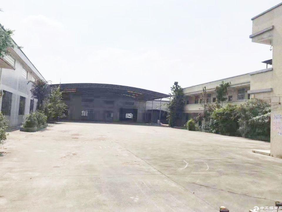 广州独门独院砖墙到顶1500平单一层厂房出租
