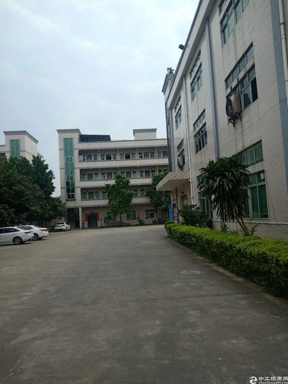 茶山镇正规工业区内,分租楼上标准厂房约1000方,带现成办公
