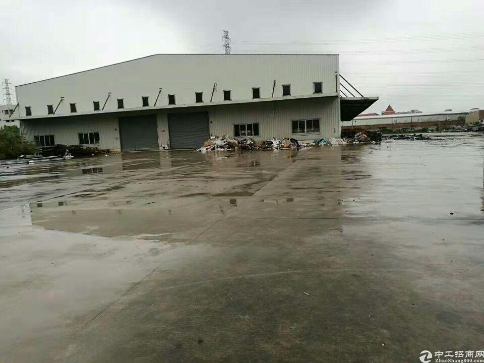 1125东莞,中堂,整个水乡片区有单一层钢构厂房招租,厂房四