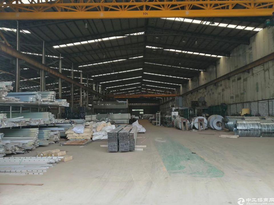 东莞企石单一层12米钢构4部行车,五金环评厂房出租