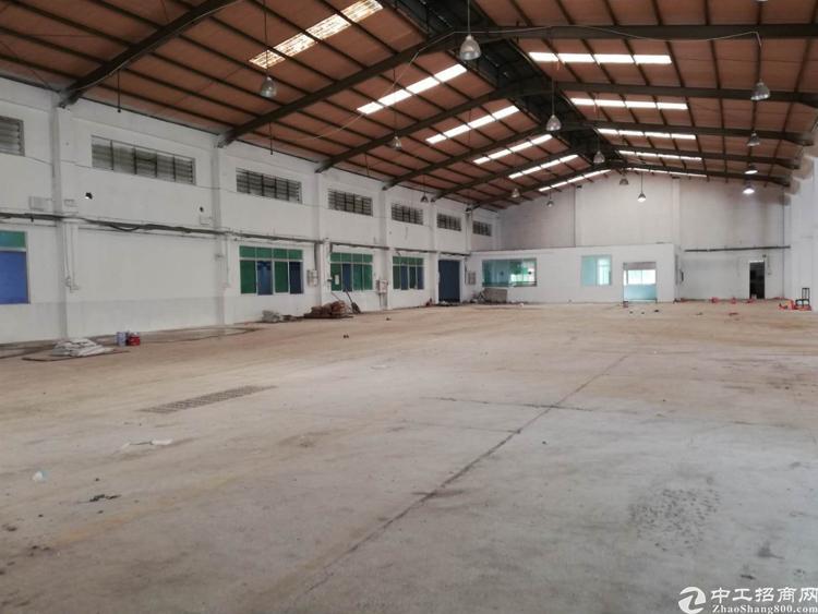 横沥镇田头原房东独门独院出租8米高厂房3000平方可办环评