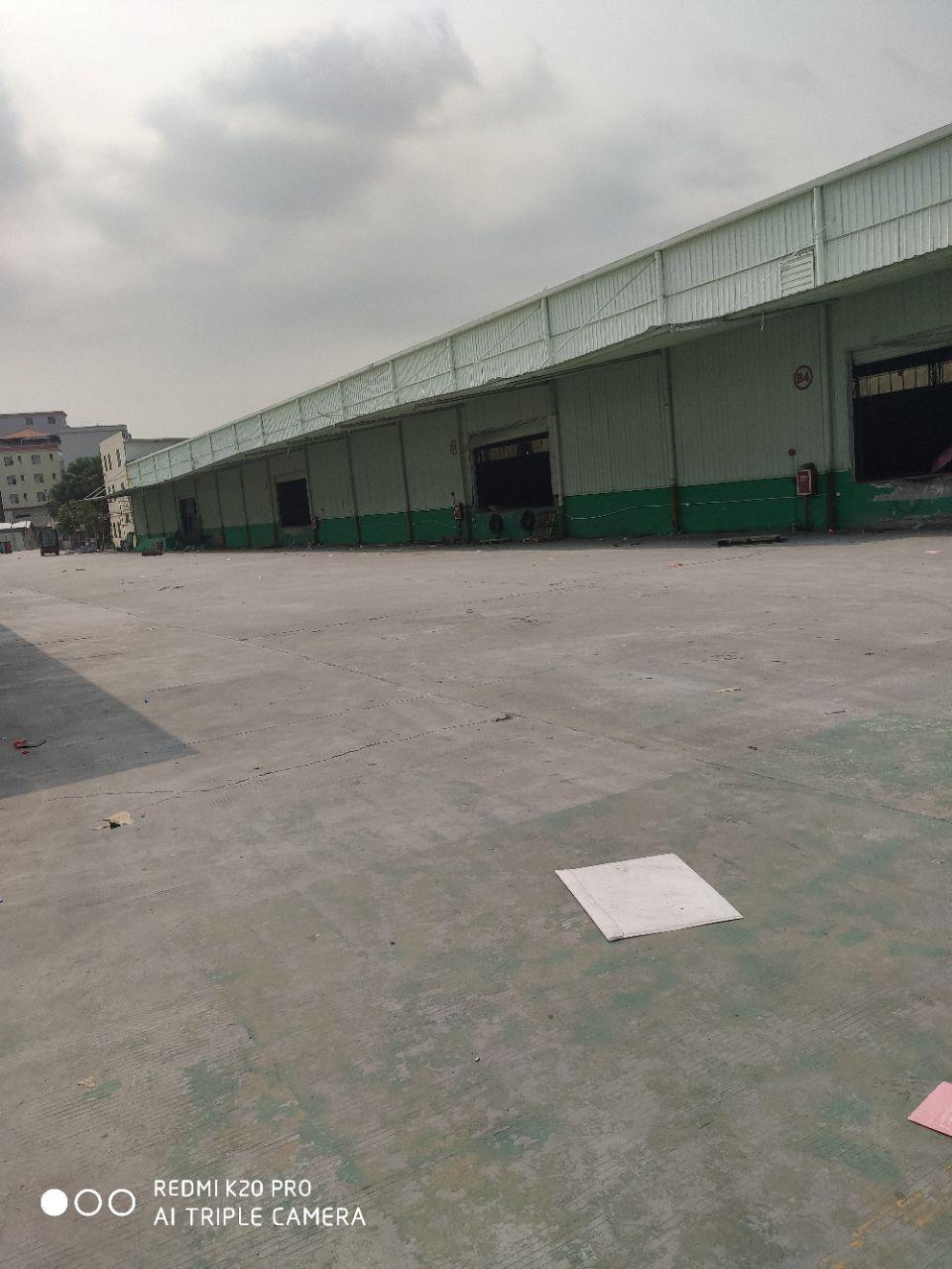 白云区物流仓厂房出租14680平米,高度为8米,带隔热层透,