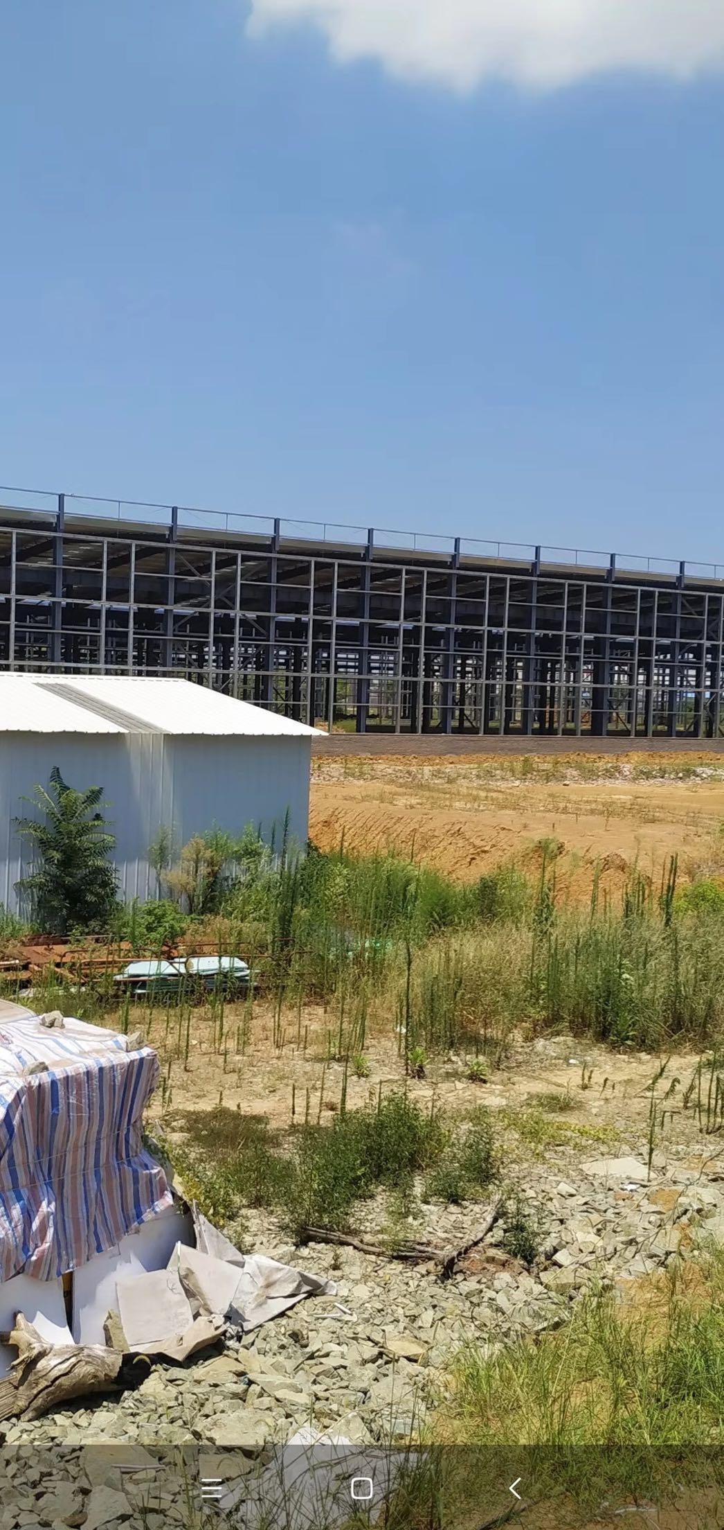 黄陂产业园核心区域,钢构厂房