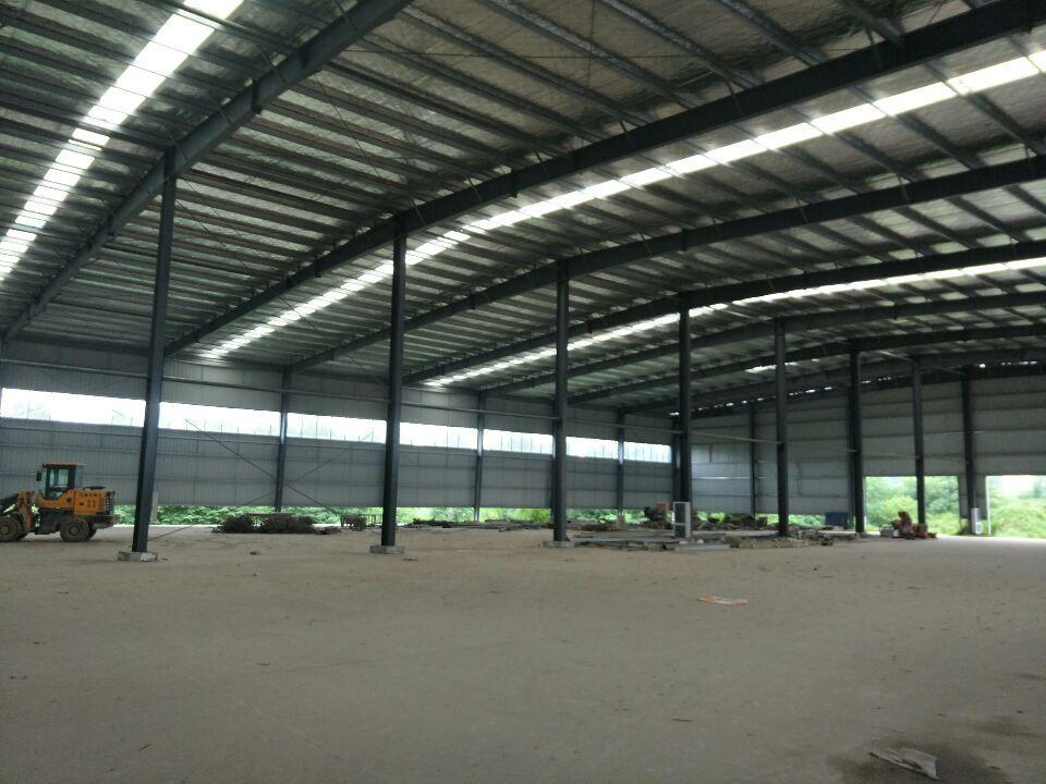蔡岗工业园厂房500平米。钢结构适合仓储行业。