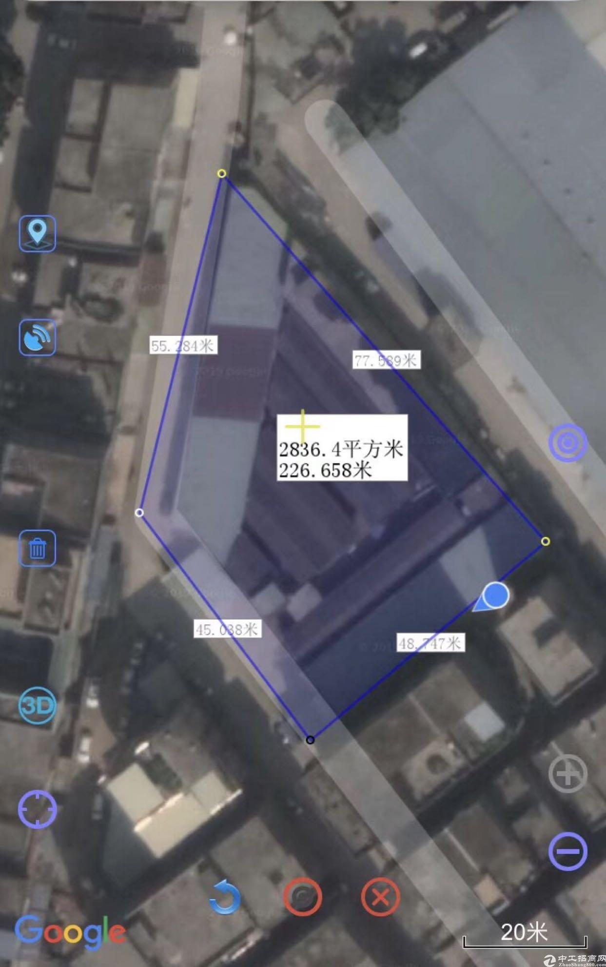 东莞市东部3000平米标准厂房售800万!