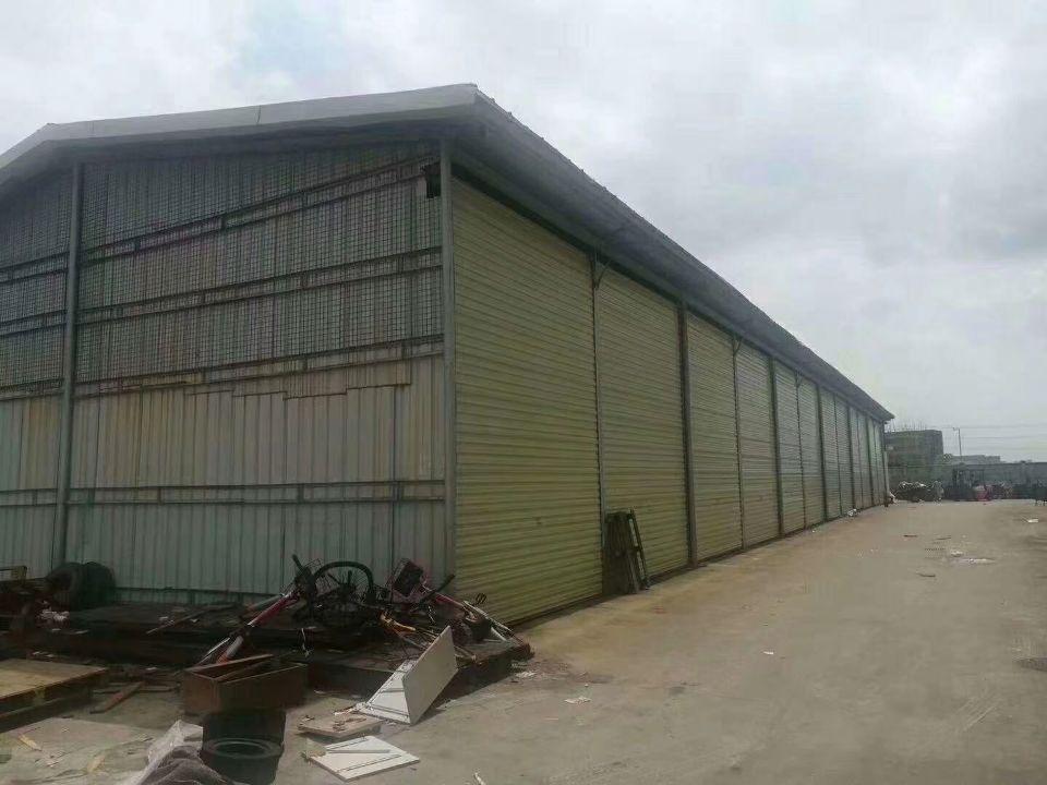 9元租钢结构 原房东钢结构厂房 面积1800平方米,