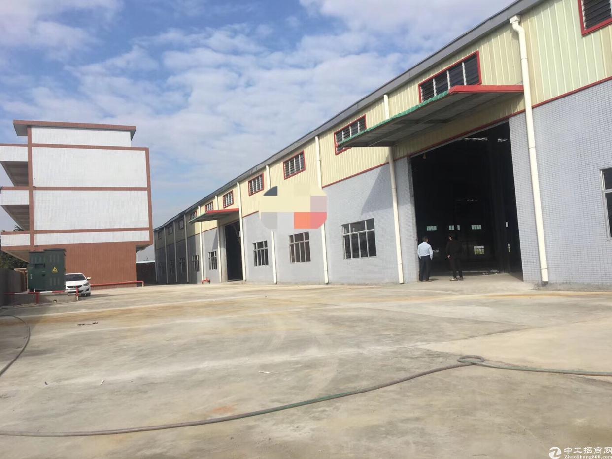 惠州工业园钢构单一层厂房出租!