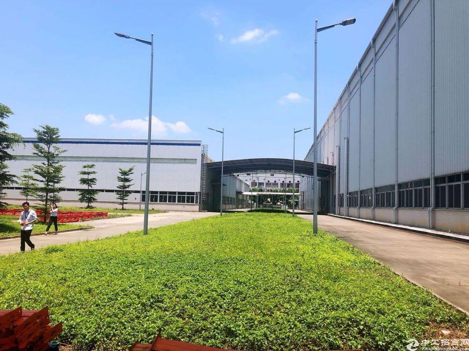 广州黄埔滴水16米钢构厂房8000方带行车出租可做生产可分租