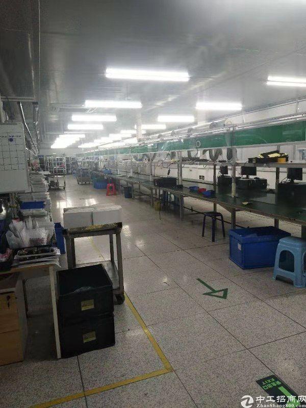西乡钟屋大型工业园内新出楼上整层1500平米厂房出租可分租