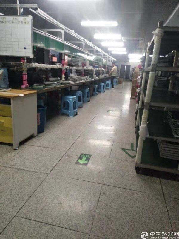 西乡钟屋大型工业园内新出楼上整层1500平米厂房出租可分租-图5