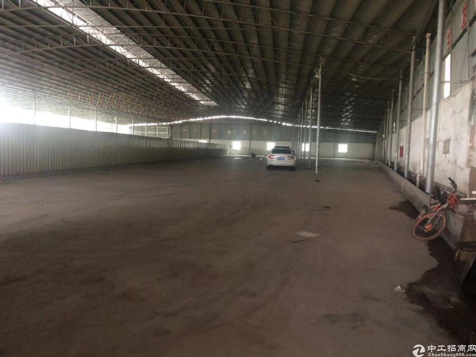 白云区江高镇私企区单一层钢结构厂房仓库2380平方,配套办公