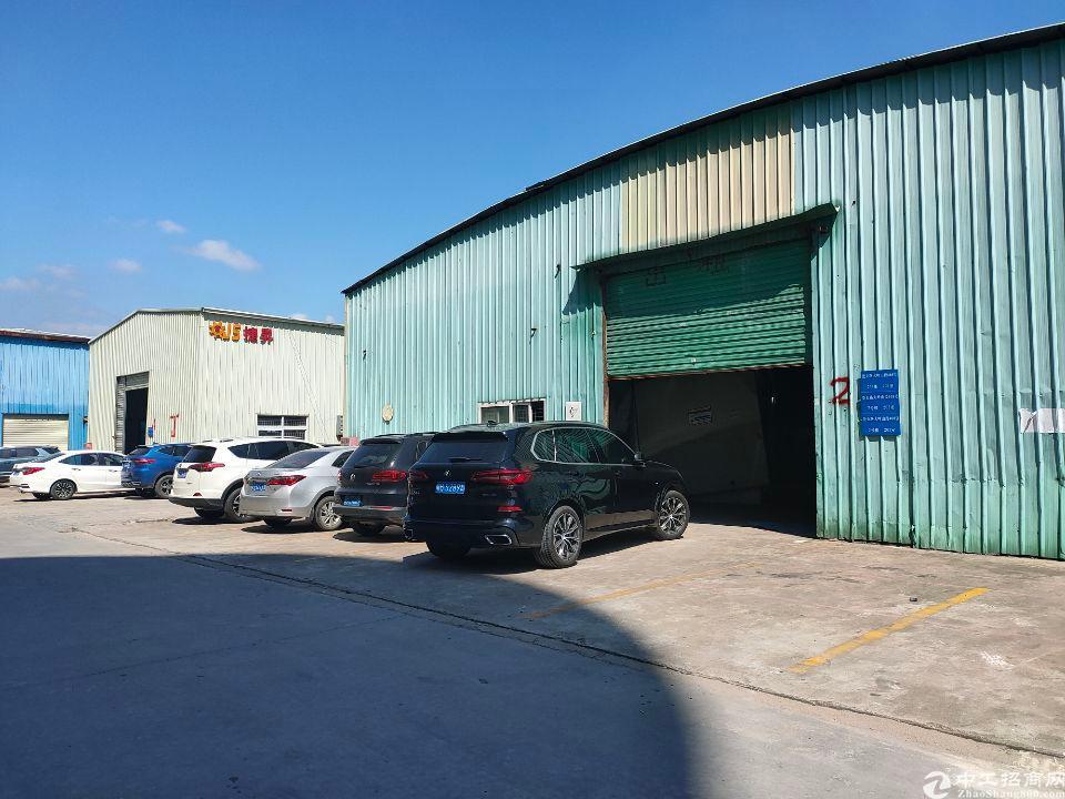 大岭山大路边钢构厂房出租860㎡滴水8米,带办公室装修