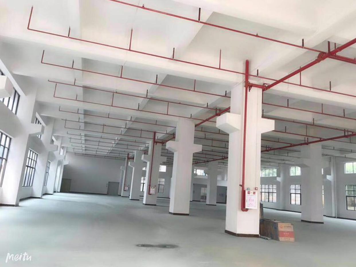 东莞市全新标准一楼带牛角厂房出租,约3000平方好分租