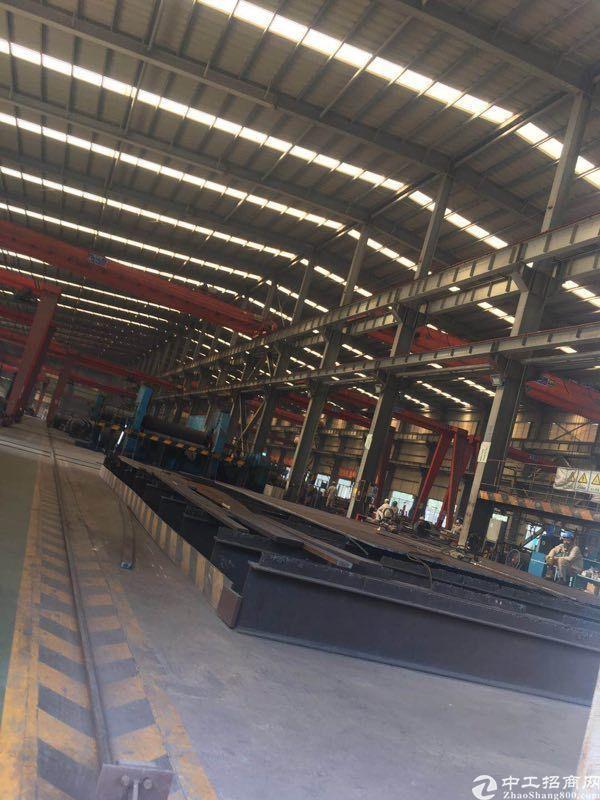 惠州一万三千平重型钢材厂高16米行车13部带现成设备出租
