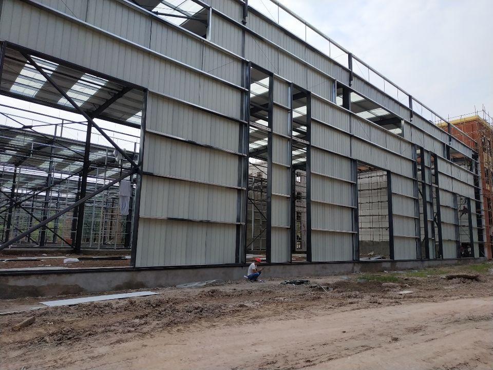 大渡口区标准厂房层高11.8米跨度24米长度100米标准钢结-图3