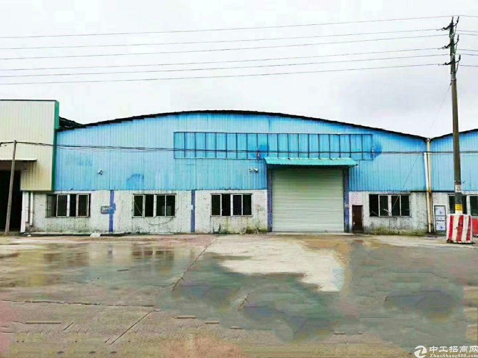 黄埔荔联超大空地2586平一楼标准钢构厂房招租(可分租)